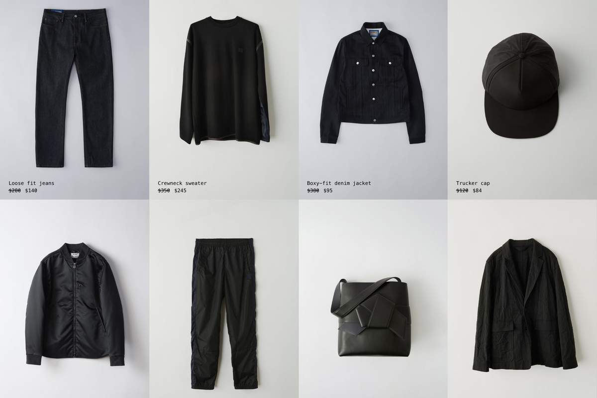 You Have 48 Hours to Shop Archive Acne Studios Pieces