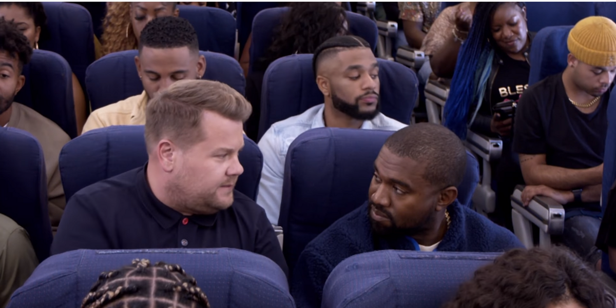 Watch Kanye and James Corden Fly Coach Together