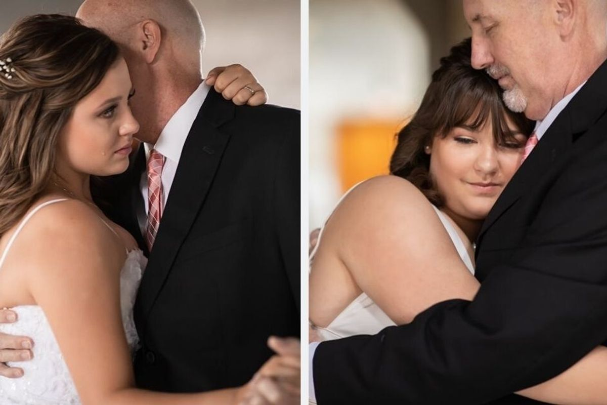 Dad with terminal cancer pre-creates wedding dance memories with his two daughters