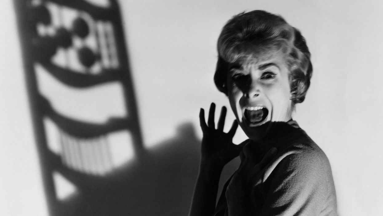 Marion Crane screaming in Psycho