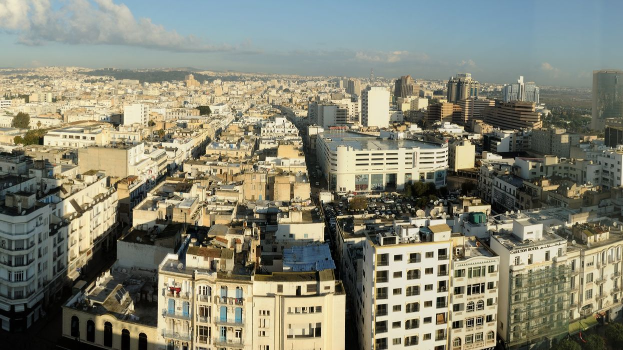Aerial view of Tunis from Hotel Africa