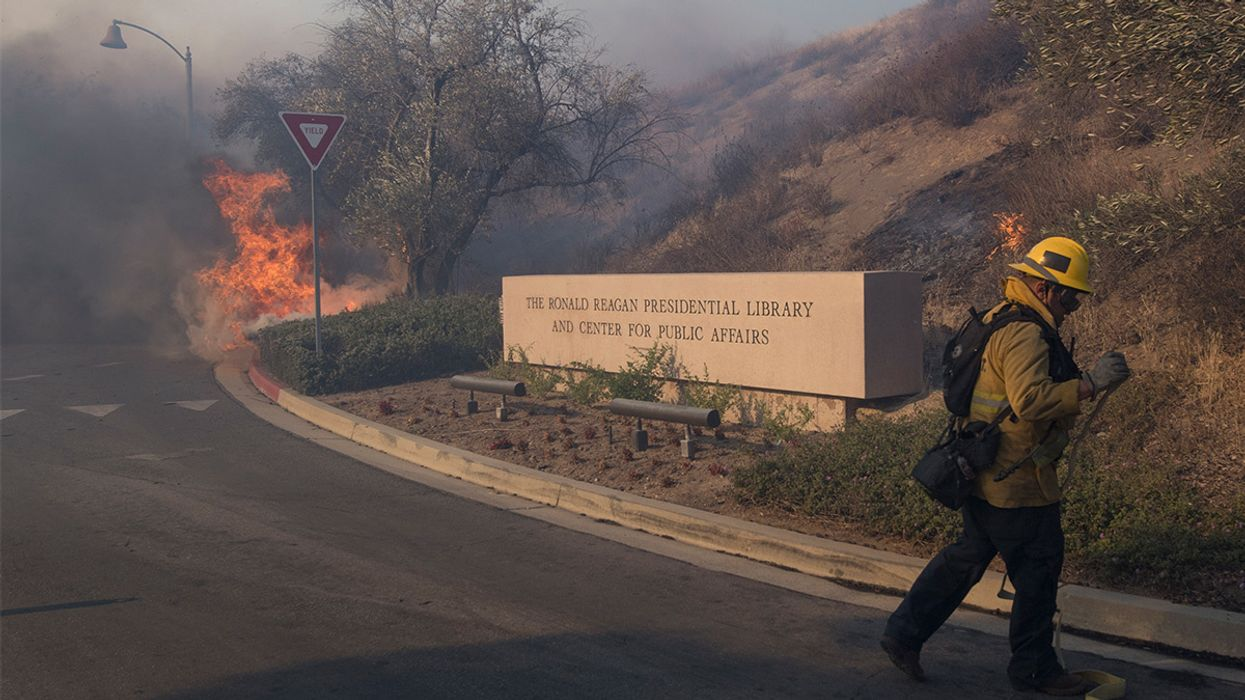 Strong Winds Spark More Than a Dozen LA-Area Wildfires, Including a Blaze Near Reagan Presidential Library