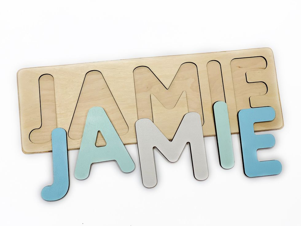 kids name puzzle