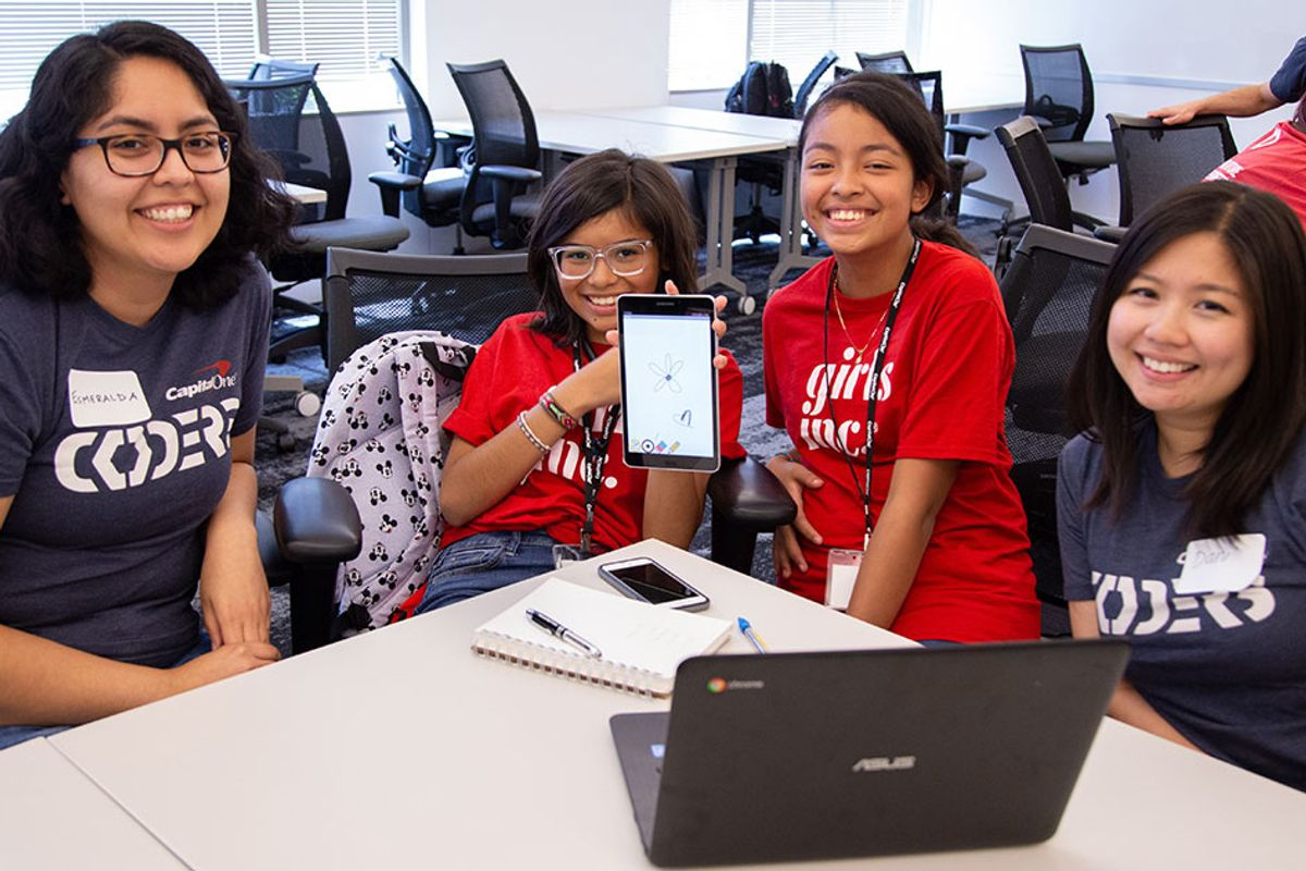 A nonprofit and a bank are helping girls take over the tech world