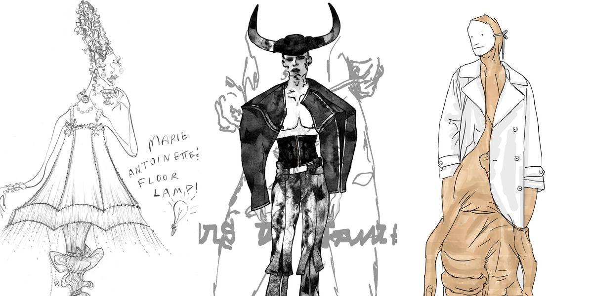 4 Rising Designers Sketch Their Fantasy Halloween Costumes