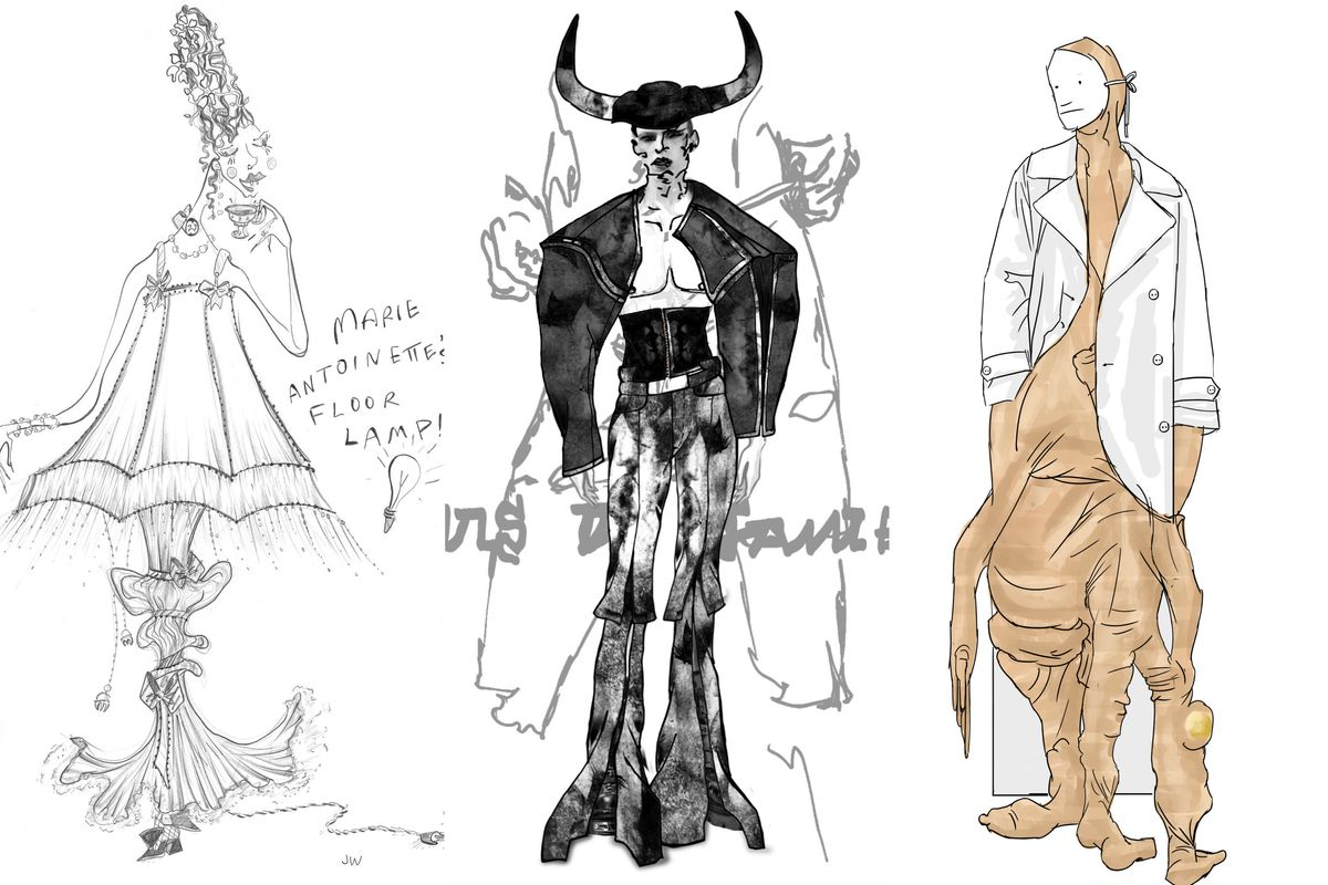 4 Rising Designers Sketch Their Fantasy Halloween Costumes