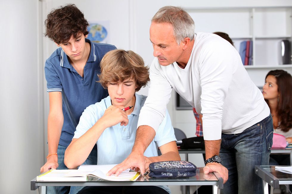 A teacher ensures that all students in his classroom learn
