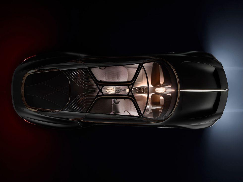 Bentley EXP 100 GT concept car 2020 overhead