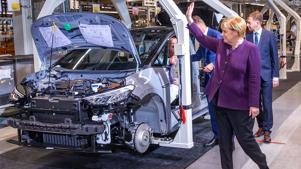 Germany's Merkel Wants 1 Million Electric Car Charge Points by 2030