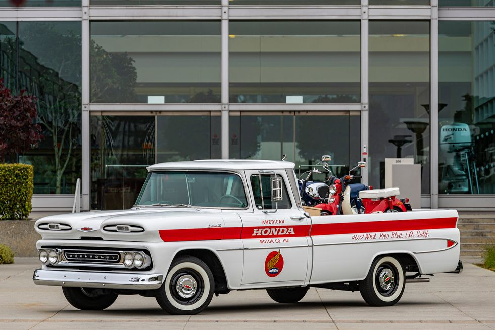 Heritage Chevy Truck with Vintage Cub and CB160