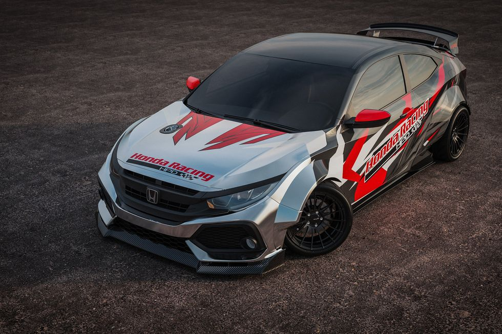 Jeanneret Racing and Olson Kustom Works Civic Si Drift Car