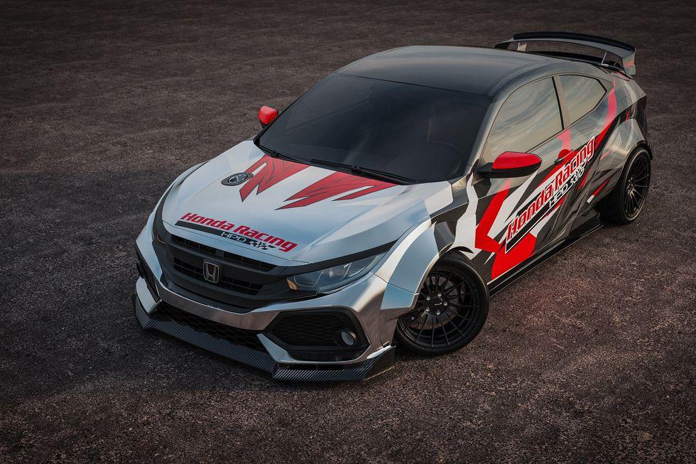 Jeanneret Racing and Olson Kustom Works Civic Si Drift Car