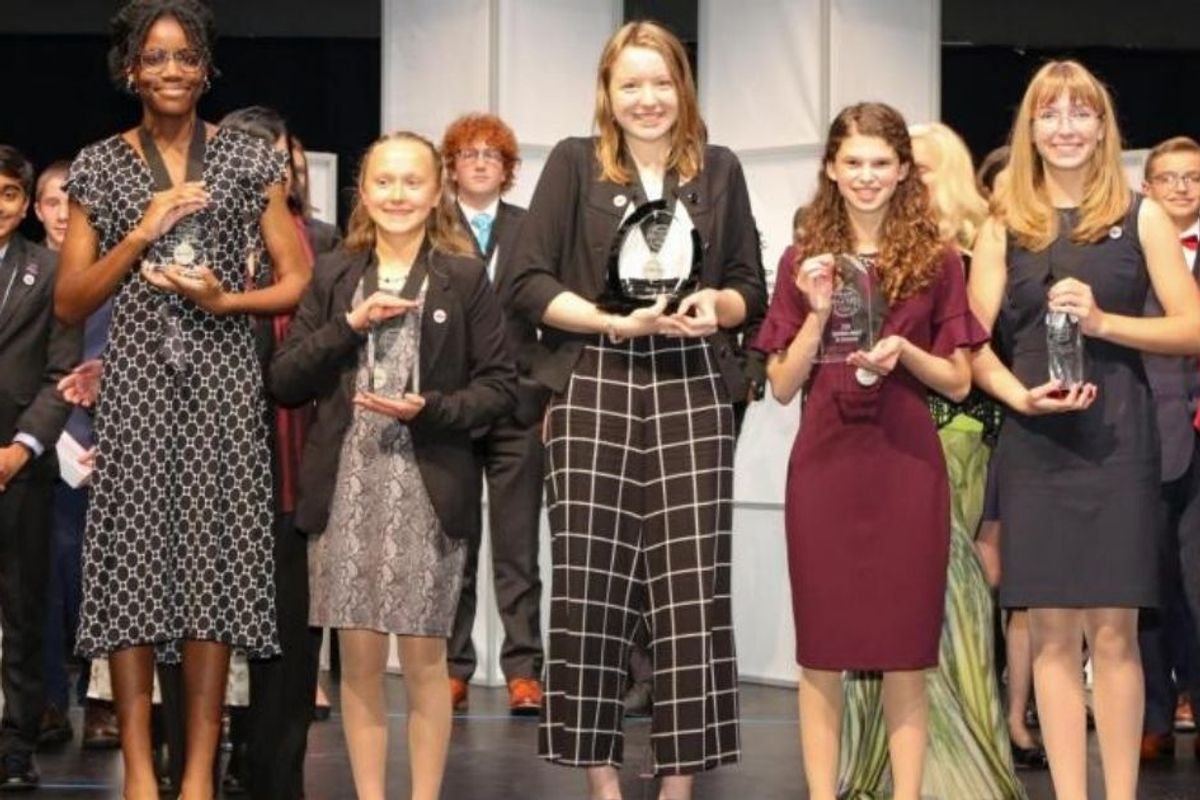 Girls won all five top prizes in national STEM contest for middle schoolers