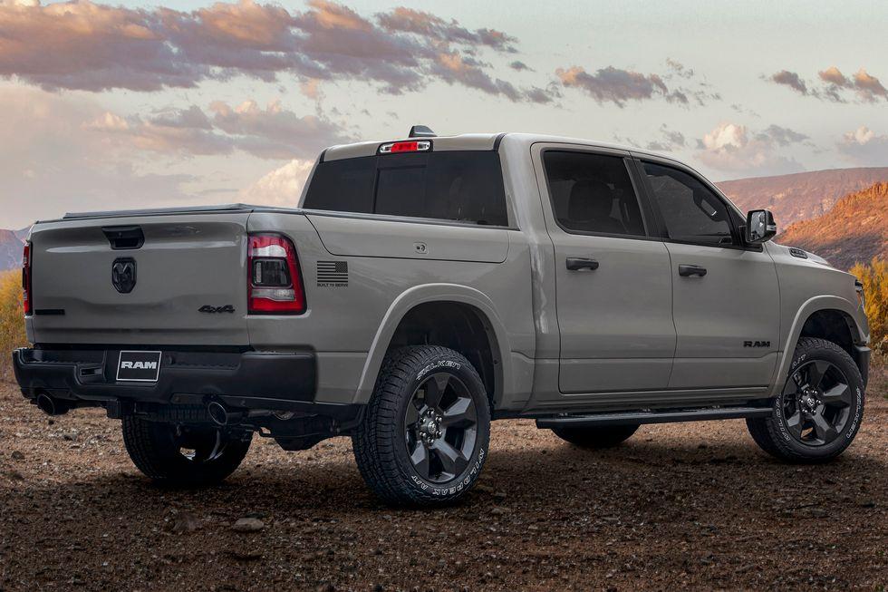 2020 Ram 1500 Built to Serve Edition back rear tailgate badging door handles wheels