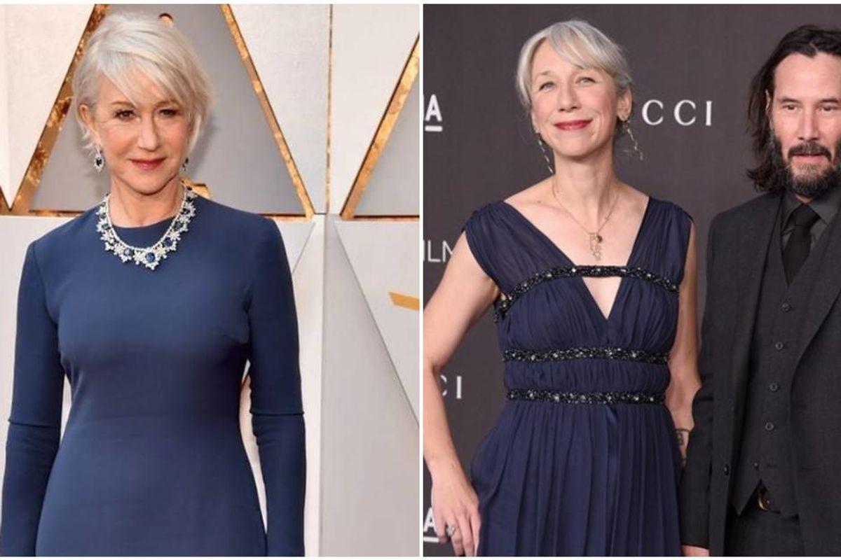 Helen Mirren is 'flattered' to have been mistaken for Keanu Reeves' new girlfriend