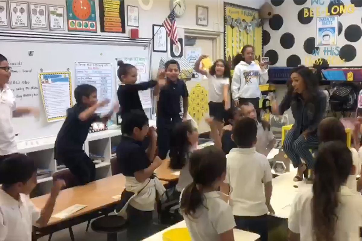 Elementary school teacher leads students in empowering remix of Lizzo's 'Truth Hurts'