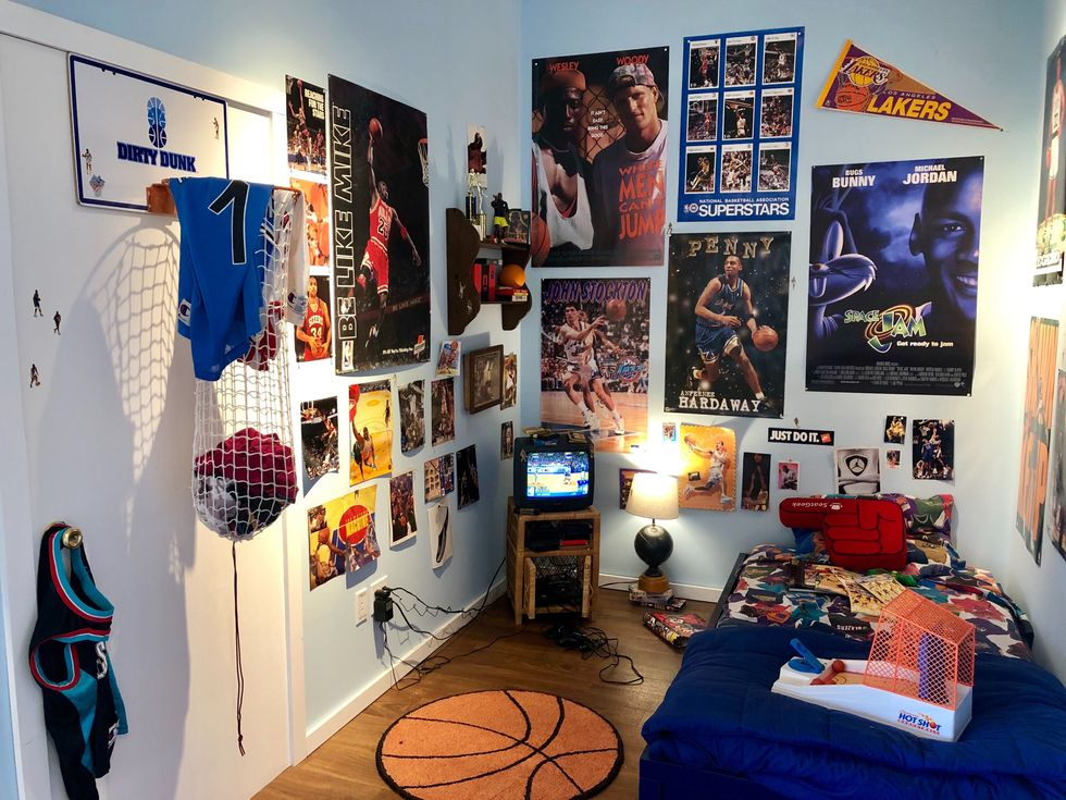 A fun feature at SeatGeek are fan bedrooms from the 1990s aimed at reminding employees of what it's like to be a fan.