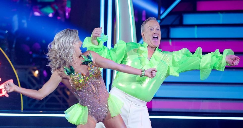 "Spicer with his dancing partner on ""Dancing With the Stars"""