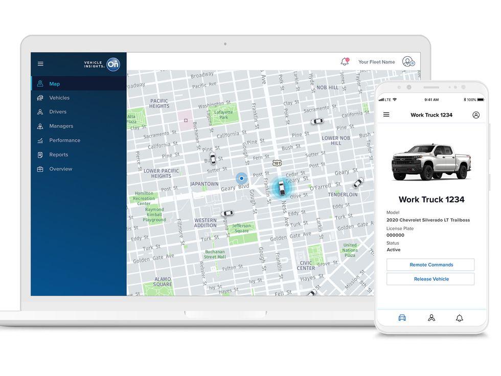 OnStar Insights screen SUV truck car Chevrolet Cadillac GMC