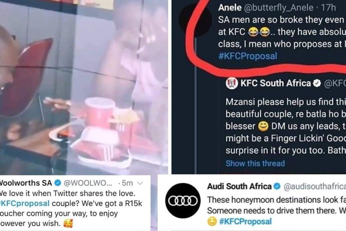 A man was ridiculed for proposing at KFC — then strangers bombarded him with generosity