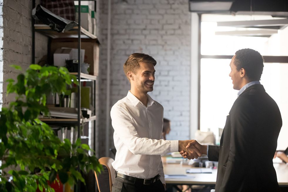 Laid off employee protecting his personal brand by staying positive