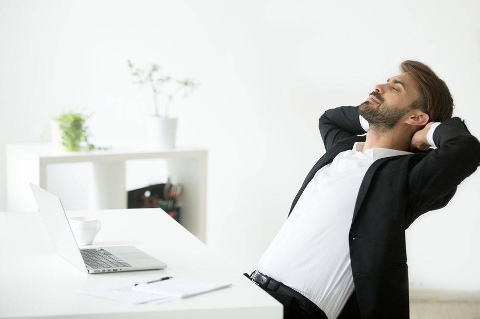 Laid off employee not panicking about his unemployment status