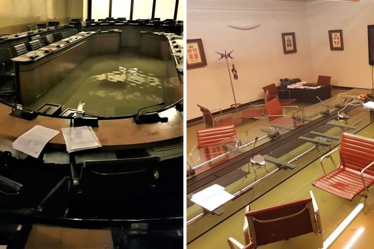 Italian council chamber floods—just after council rejected climate change measures