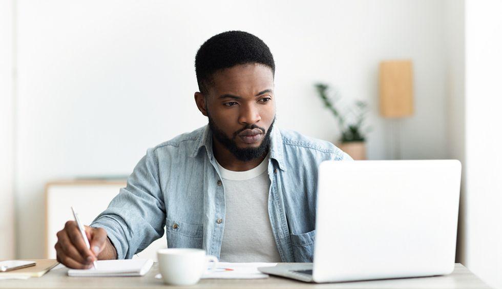 Job seeker views openings through various job board websites.