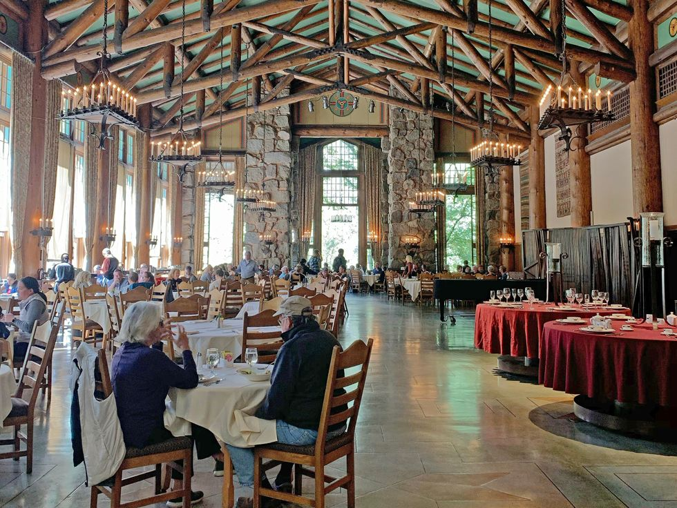 The Ahwahnee dining room Yosemite National Park