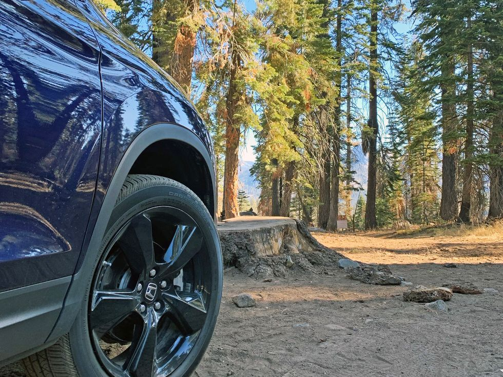 Mono Meadow trailhead 2019 Honda Passport