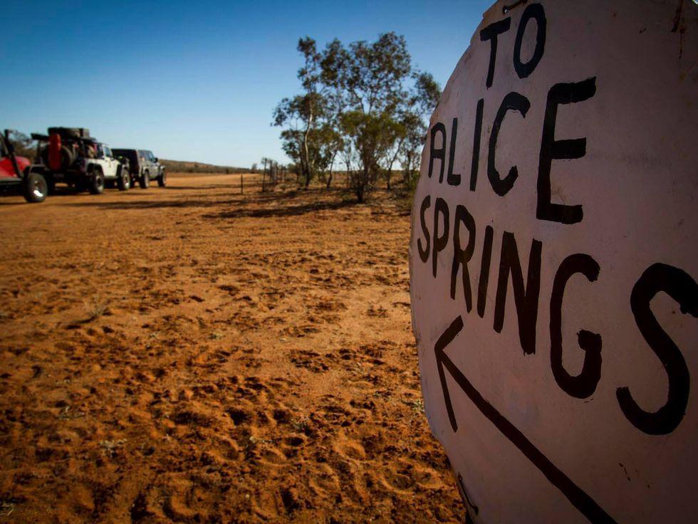 Alice Springs sign Australia Outback