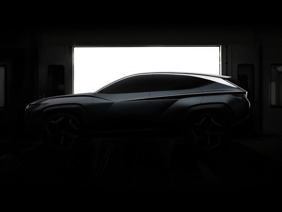 Hyundai Vision T concept SUV car front PHEV