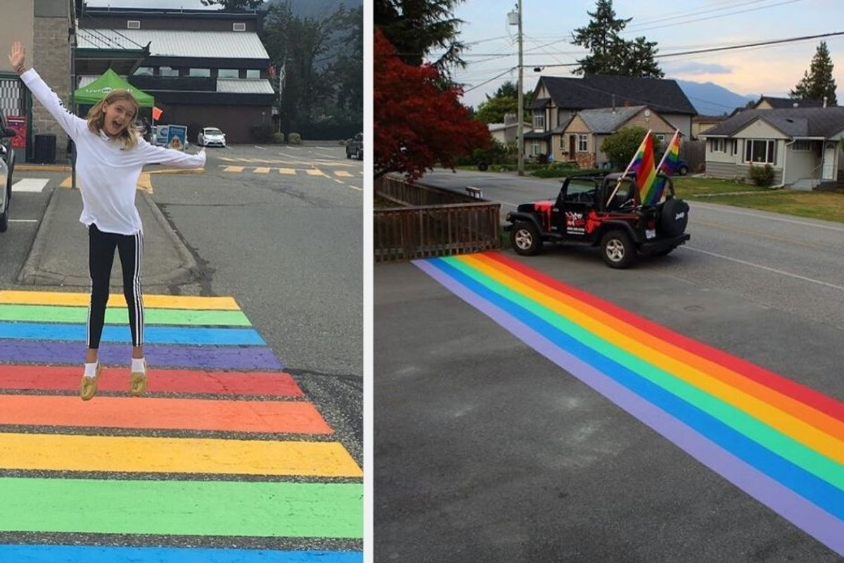 A city council voted down a rainbow crosswalk. Now residents have painted 16 of them