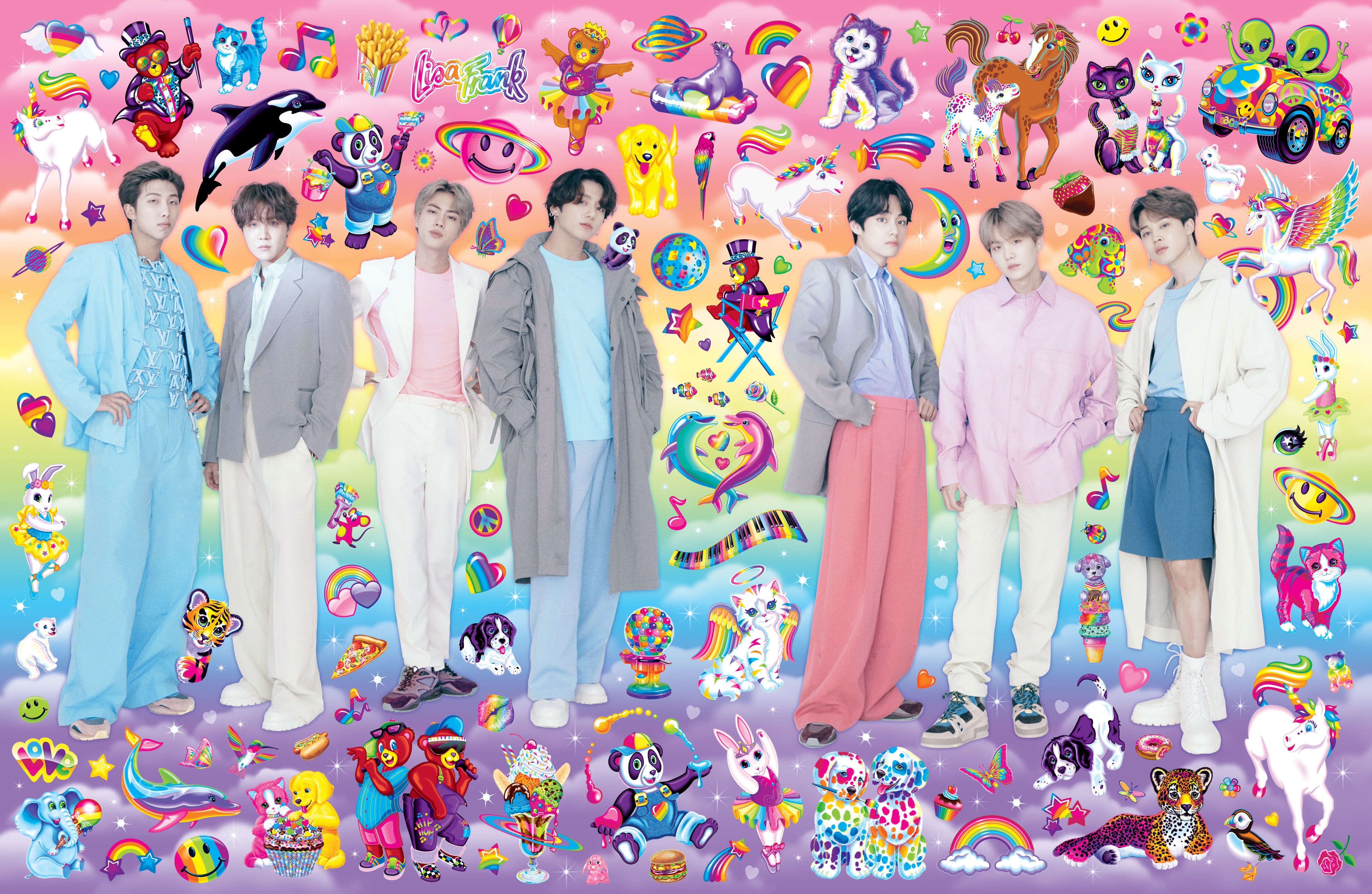 bts on the cover of paper break the internet lisa frank paper