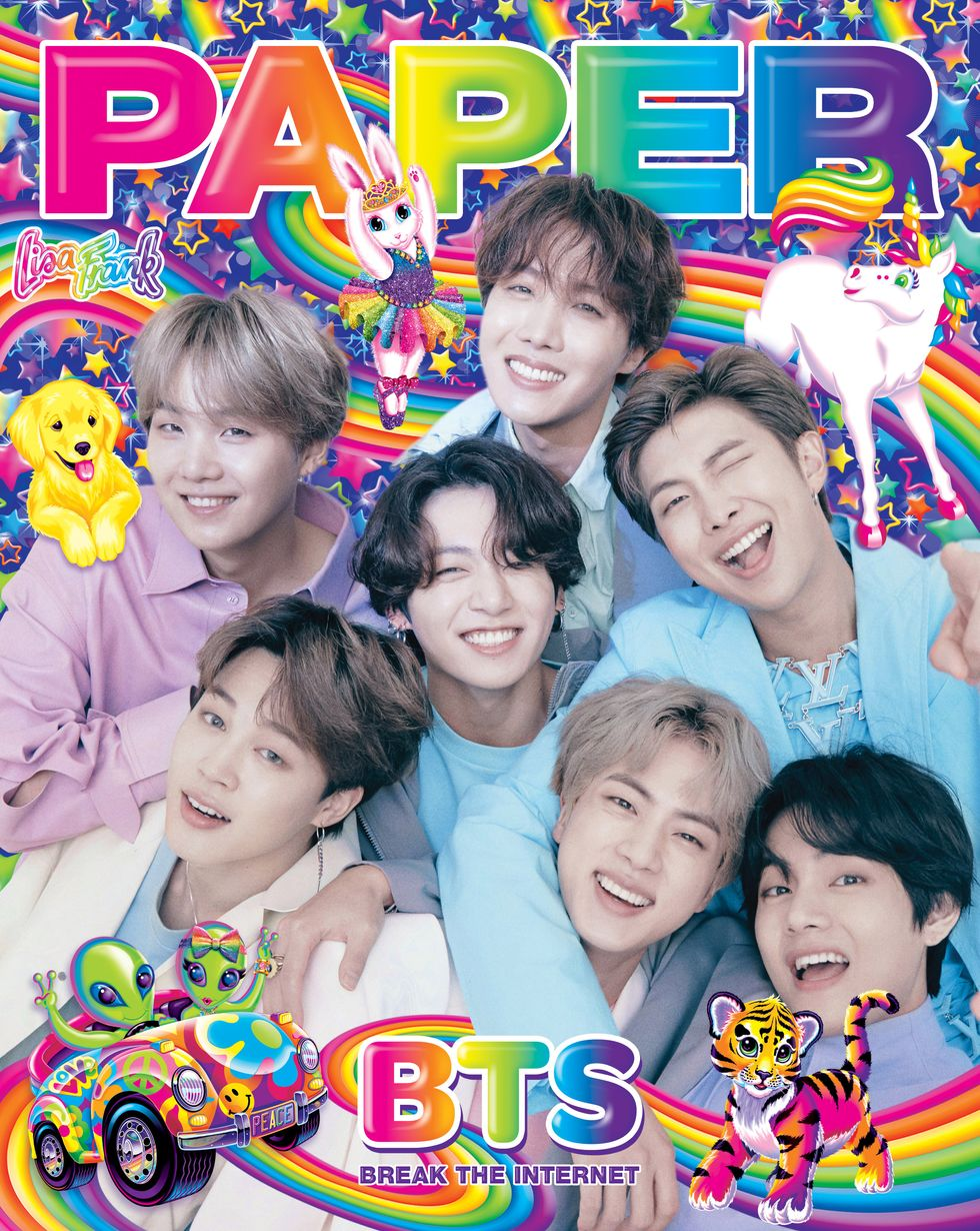 Bts On The Cover Of Paper Break The Internet With Lisa Frank Paper