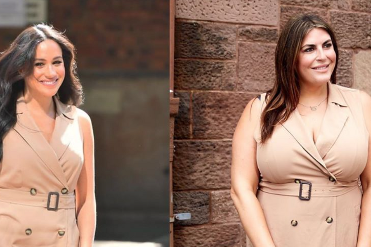 A plus-sized fashion blogger was shamed for dressing like Meghan Markle. Her response was perfect.