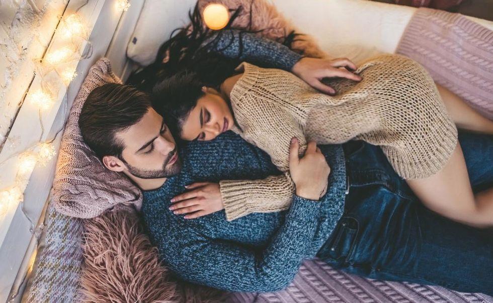 cozy couple