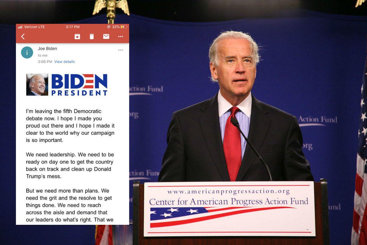 Joe Biden released his debate response hours before the actual debate took place