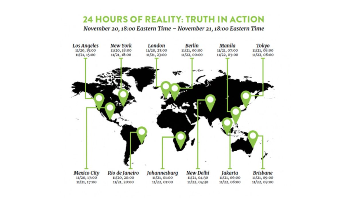 Al Gore Launches 24 Hours of Climate Crisis Talks Around the World