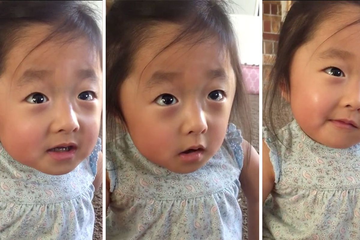 Toddler melts hearts with adorable video describing being adopted: 'My heart fell in love with you'