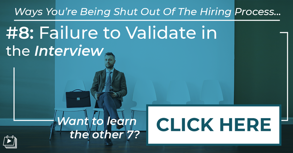 One of the ways a professional can be shut out of the hiring process