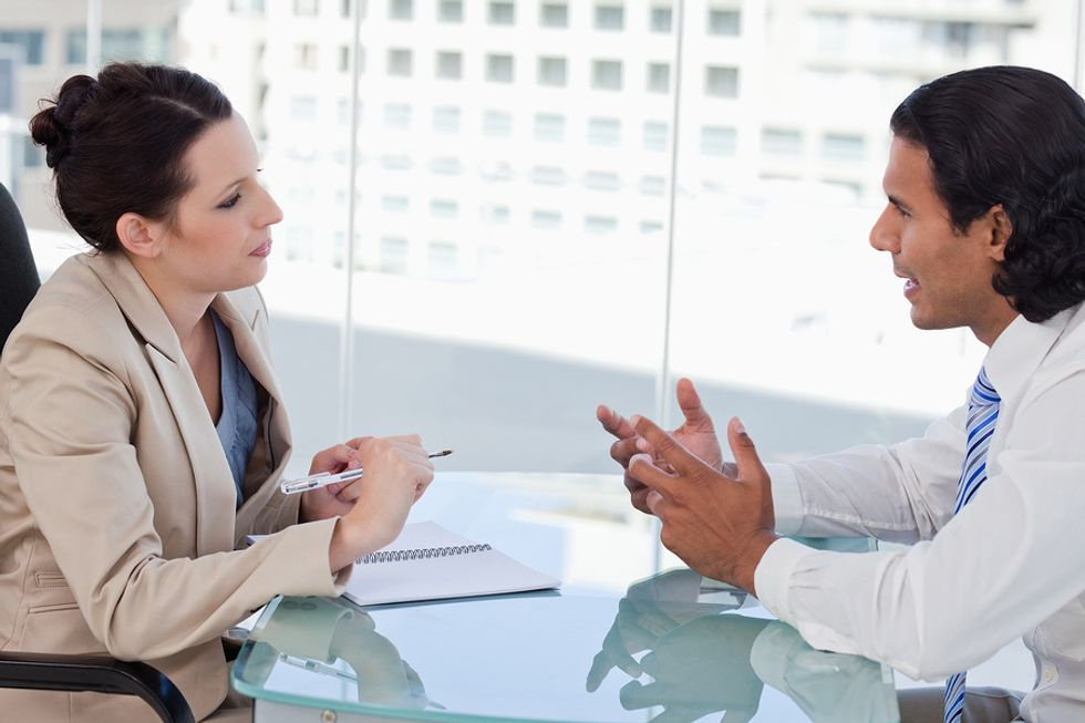 Potential job candidate doesn't have good communication skills in the interview