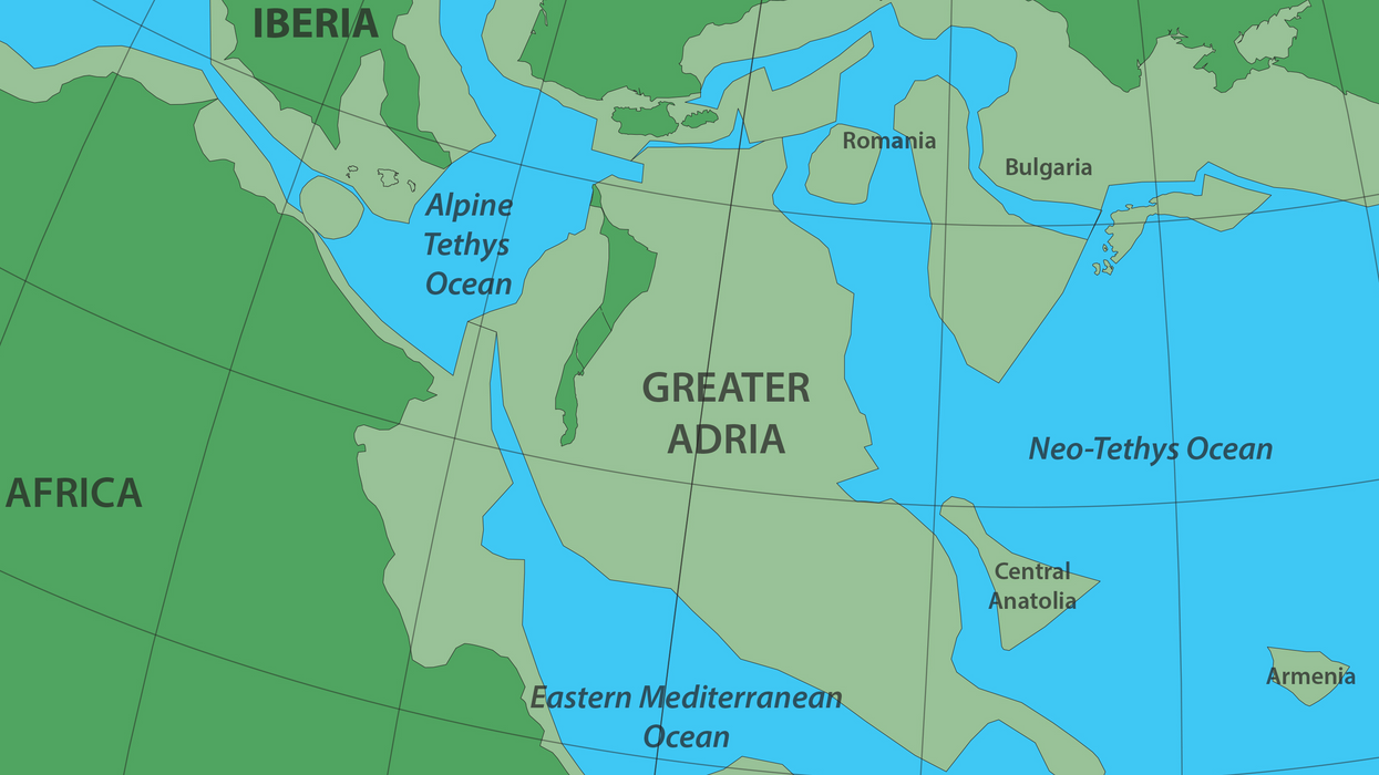 Greater Adria, science's newest lost continent, tore off from North Africa and was subducted beneath Southern Europe.