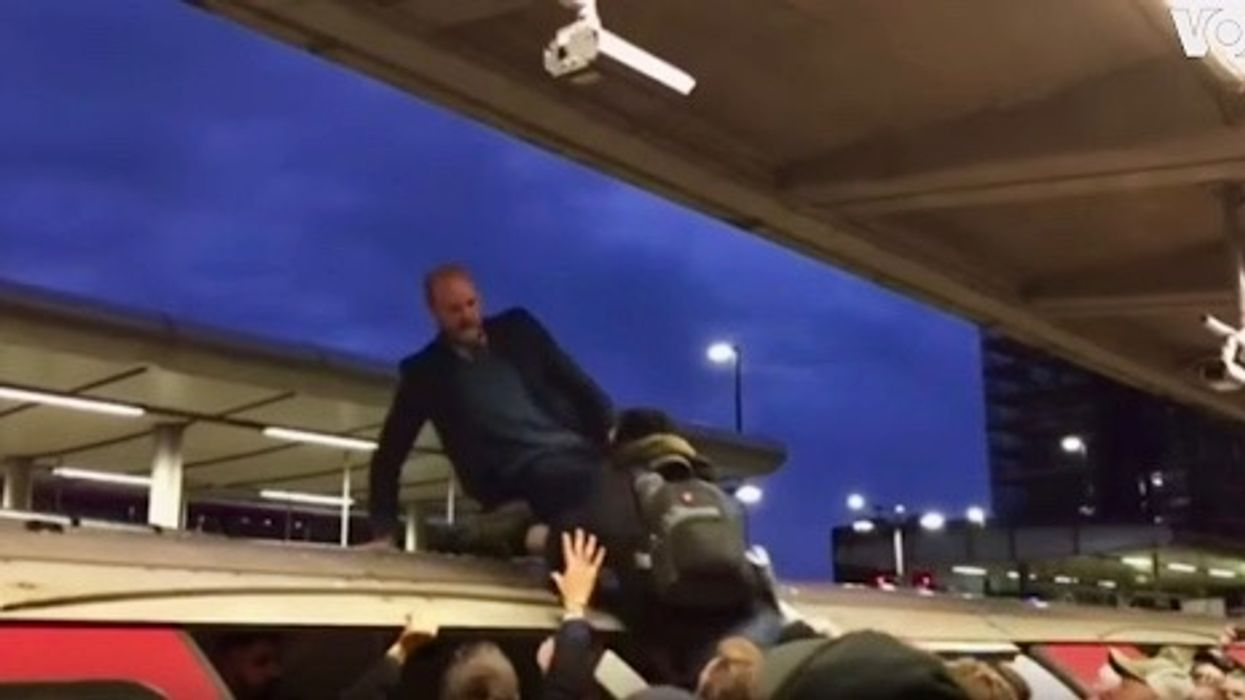 Climate Protester Dragged From Top of Train by London Commuters