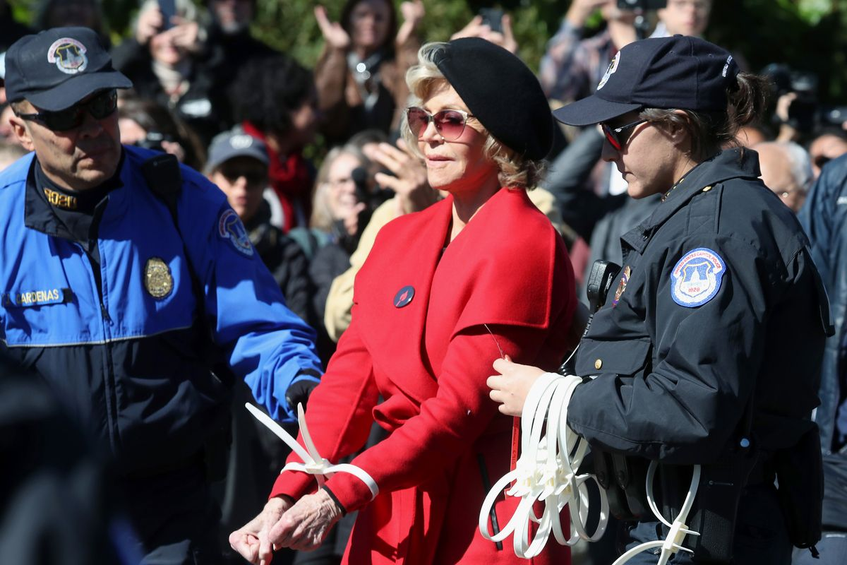 Jane Fonda Gets Arrested Again