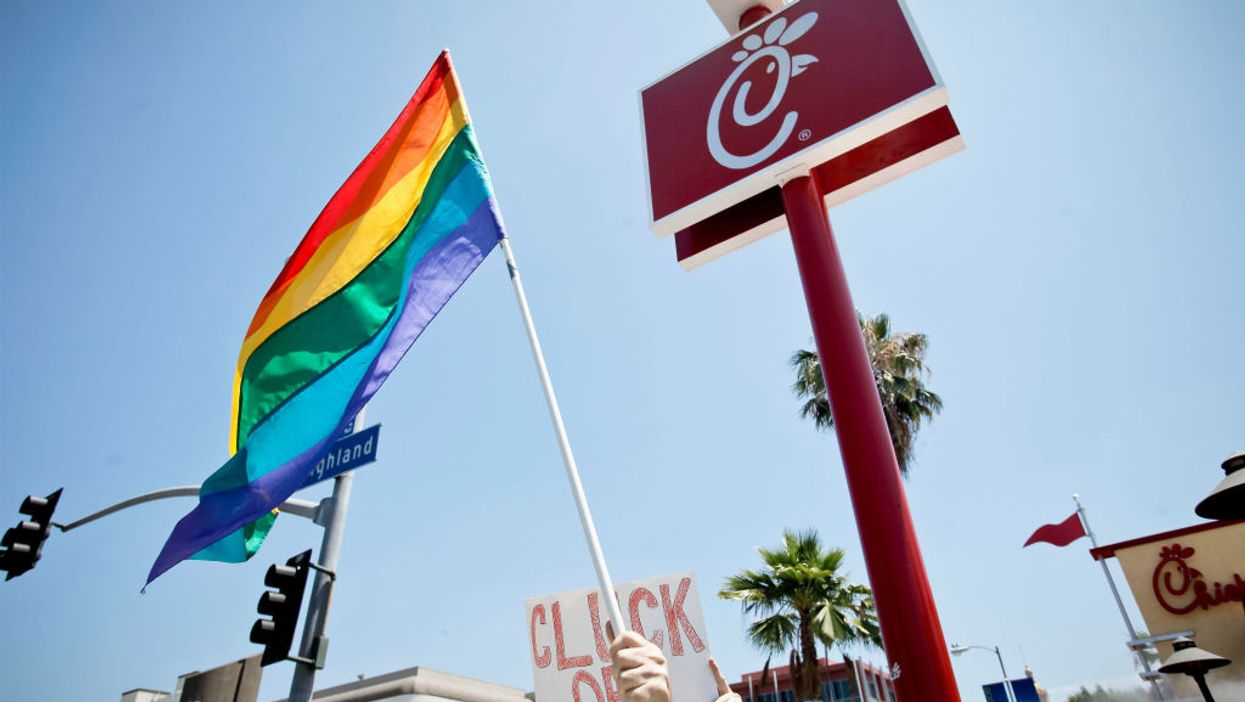 LGBT protesters succeed in shutting down first Chick-fil-A in the United Kingdom