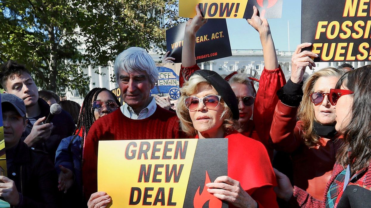 Jane Fonda, Sam Waterston Arrested on Capitol Hill Protesting for Green New Deal