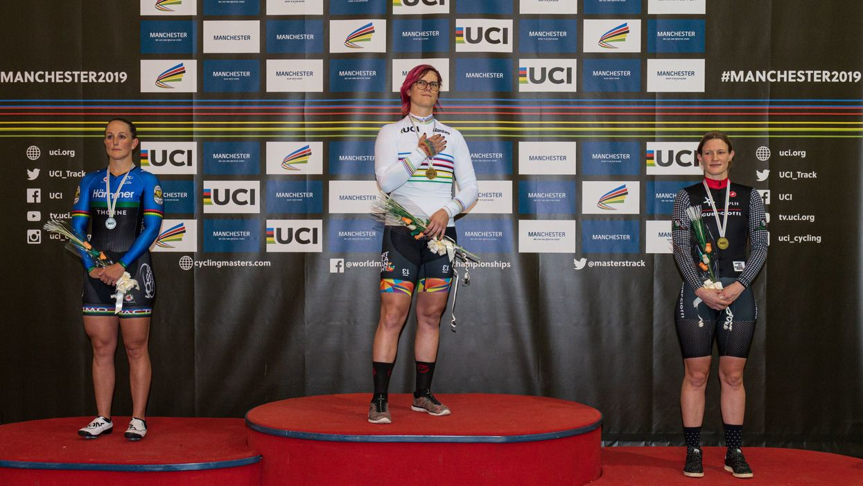 Transgender female dominates at Masters Track Cycling World Championships, complains how unfair it would be if she were excluded