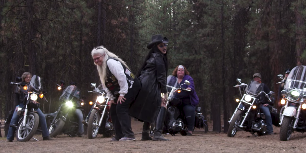 """Brooke Candy Joins A Women's Biker Crew In The Woods For New """"FMU"""" Video"""