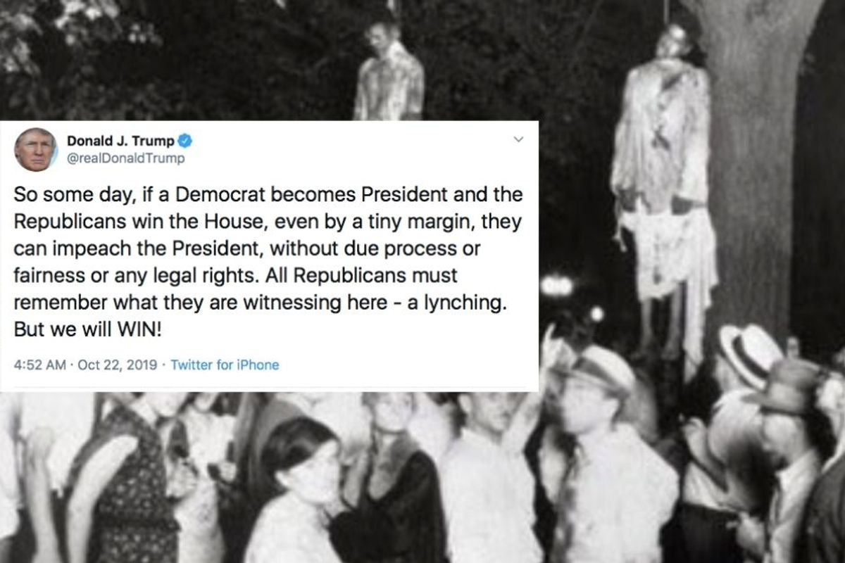 Trump's 'lynching' claim draws swift, severe backlash—and deservedly so
